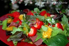 la cuisine de doria salty salad salade de printemps salé sucré dinan