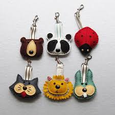 handmade felt key rings key rings felting and key