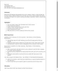 Field Resume Templates Professional Field Marketing Representative Templates To Showcase