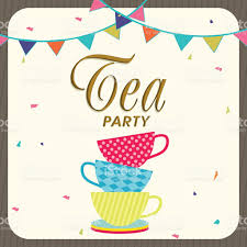 Card Party Invitation Tea Party Invitation Card Design Stock Vector Art 530300063 Istock