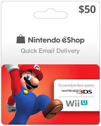 nintendo eshop gift card 50 usa nintendo eshop for wii u and 3ds instant email delivery