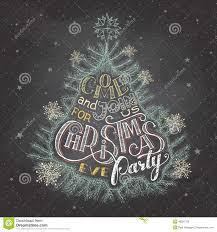 christmas eve party invitation chalkboard stock vector image