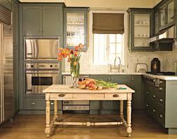 green painted kitchens interior design