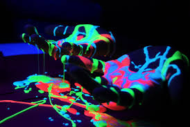neon party supplies washable fluorescent uv neon paint party cannon supplies
