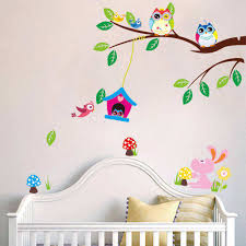 flower owl tree wall stickers boys room wall decals 2 for 20