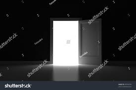open door room light outside stock illustration 87834799