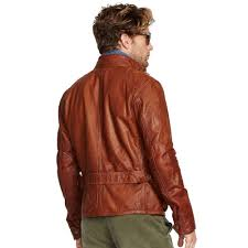 sport bike leathers polo ralph lauren leather southbury bike jacket in brown for men