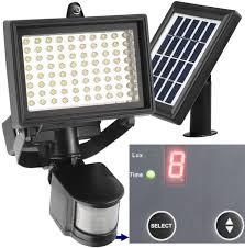 led solar security light 80 led outdoor solar motion light digitally adjustable time