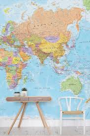 Map Wallpaper 64 Best Nursery Wallpaper Murals Images On Pinterest Wallpaper