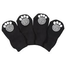dog and hardwood floors pet life pet life dog socks with rubber sole grips black white