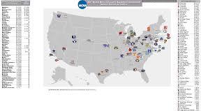 Map Of Florida Colleges by Ncaa Men U0027s Basketball Billsportsmaps Com