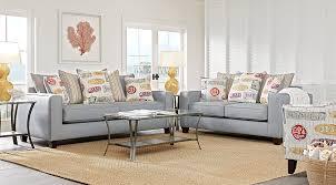Rooms To Go Living Room Set Surfside Blue 7 Pc Living Room Living Room Sets Blue
