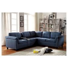Blue Sectional With Chaise Blue Denim Sectional Sofa Target