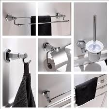 Bathroom Accessories Modern New Modern Sanitary Hardware Set Chrome Finished Bathroom