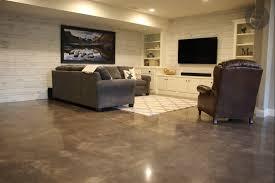 polished concrete in basement dancer concrete design