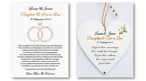 Wedding Poems For Invitation Cards Personalised Daughter And Son In Law Wedding Poem Card U0026 Heart