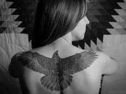 wing tattoos on back 38 top crow tattoos for back