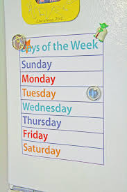 10 best images of days of week chart printable free printable