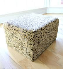 Diy Reupholster Ottoman by How To Update A Reupholstered Ottoman Noting Grace