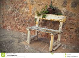 empty old bench stock photo image 39468815