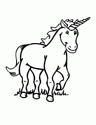 unicorn cartoon coloring pages coloring home