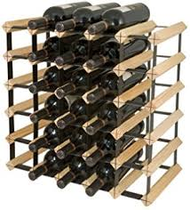 amazon com final touch 12 bottle wine rack natural finish