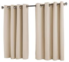 Curtains 64 Length Rod Pocket Thermal Insulated Blackout Curtain