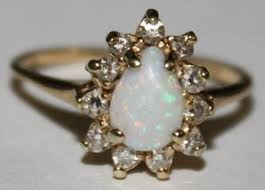 vintage opal engagement rings just bought vintage opal diamond ring weddingbee