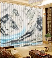 Patterned Window Curtains Photo Curtains 3d Patterned Window Curtains Gray Marble Modern