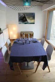 linge lit lin nappe 170x300 12 serviettes en lin lavé bleu jean la maison de