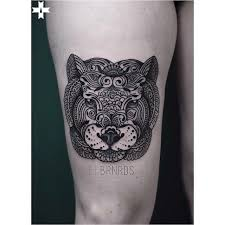 mehendi tiger mask on thigh best ideas gallery