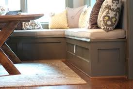 built in breakfast nook dimensions ideas dining kitchen table