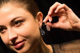 world s most expensive earrings pair of coloured diamonds become world s most expensive
