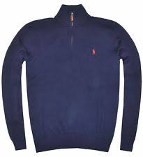 polo ralph lauren men u0027s half zip french rib cotton sweater all