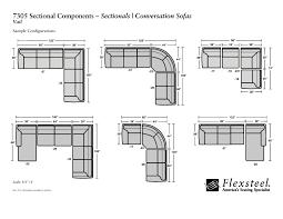 flexsteel sectional sofa flexsteel 7305 vail sectional