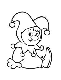 cute clown coloring free printable coloring pages