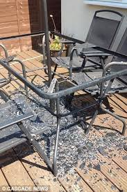 Glass Patio Table Set Asda Glass Patio Table Exploded Into A Million Pieces When Left