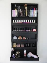 Black Bathroom Storage μake Up Organizer Nail Polish Rack In Black Bathroom