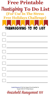 free printable thanksgiving to do list