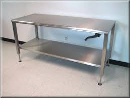 Stainless Desk Rdm Stainless Steel Adjustable Height Table Model A107p Ss