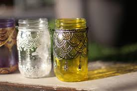 5 spaces to decorate with our hand painted mason jar lanterns