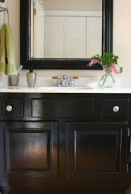 Repainting Bathroom Cabinets How To Paint White Bathroom Cabinets Black Nrtradiant Com