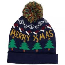beanie with led lights kitsound beanie hat with led lights pom pom in christmas tree price