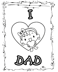 i love dad from daughter free printable coloring pages