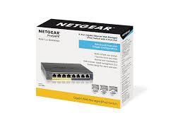 amazon com netgear gs108pev3 8 port gigabit poe smart managed