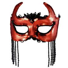 mardi gras halloween costumes shedevil black and red half mask costume craze