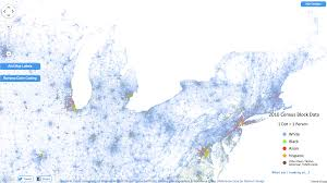 Michigan On The Map by Every Single Person Is On This Map Of The Us Michigan Radio