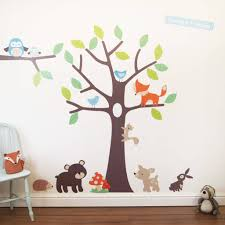 woodland tree wall stickers by parkins interiors woodland tree wall stickers