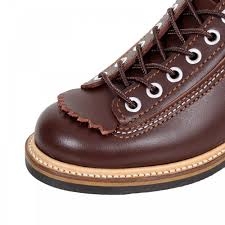 matte finished brown leather boots from lone wolf