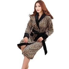 robe de chambre leopard hommes et femmes léopard longue peignoir accueil vêtements chaud